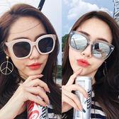 韓版方形粗框墨鏡白色框遮臉潮流復古太陽鏡 LQ1057『科炫3C』