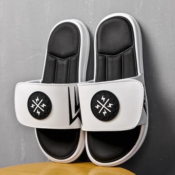 拖鞋男夏季外穿運動沙灘鞋網紅潮拖鞋