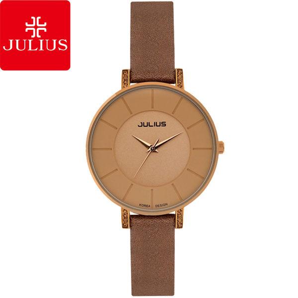 JULIUS 聚利時 第一個微笑簡約設計腕錶-流沙金/30mm 【JA-766LF】