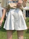 2021春季褲裙新款韓版高腰寬管褲寬鬆休閒褲學生工裝短褲女褲子 蘿莉館品