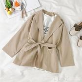 網紅小西裝2019新款女學生韓版上衣寬松長袖春秋小個子小西服外套