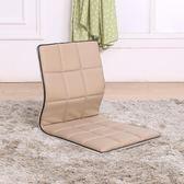 和室椅日式榻榻米椅子無腿飄窗床上實木坐墊靠背懶人PU皮椅沙發