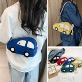女童斜背包 男女童包包2019新款兒童可愛卡通小汽車斜挎小包帆布迷你時尚包