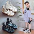 女童涼鞋 女童涼鞋新款羅馬學生韓版時尚公主防滑中大童軟底沙灘高幫鞋 韓菲兒