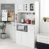 餐廚櫃 廚房架 上下櫃【N0058】夏佐雙層收納廚房櫃180cm(純白) 完美主義 ac
