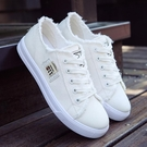 帆布鞋 小白鞋新款帆布鞋子學生風ulzzang1992鞋百搭韓版【快速出貨八五鉅惠】