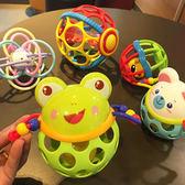 新生嬰兒健身球寶寶學爬搖鈴球手抓球軟膠球0-1歲玩具【聖誕節鉅惠8折】
