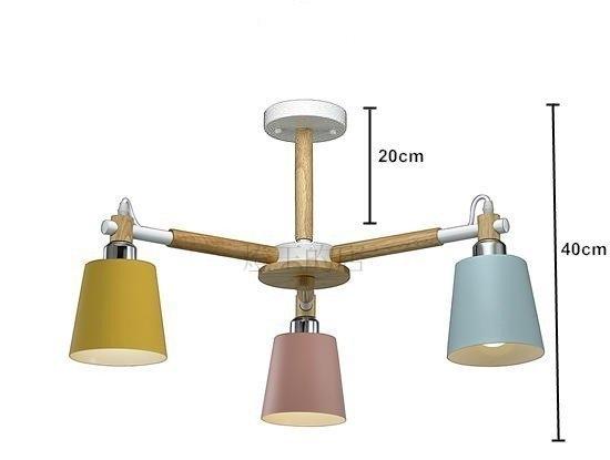 燈飾燈具【燈王的店】北歐風 馬卡龍系列 半吸頂燈 3 燈 9851-3