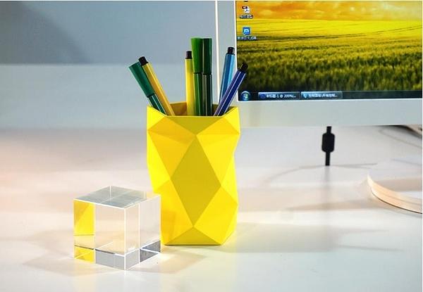FACES橡膠筆筒創意時尚韓國小清新多功能學生辦公室用品筆座收納