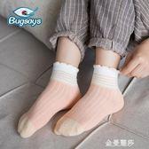 秋冬款女童襪子花邊中筒襪純棉女寶寶襪女孩中大童兒童棉襪春秋季 金曼麗莎