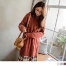 《FA2110》質感純色長版針織毛衣 OrangeBear