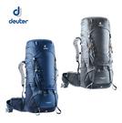 丹大戶外用品 德國【Deuter】AIRCONTACT 拔熱式透氣背包 55+10L 3320319 灰/藍
