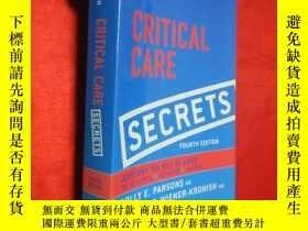 二手書博民逛書店Critical罕見Care Secrets (小16開) 【詳