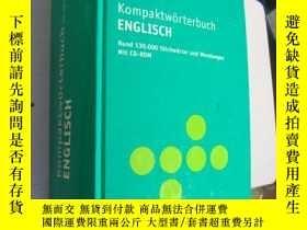 二手書博民逛書店德文原版罕見PONS Kompaktwörterbuch Eng