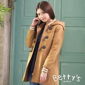 betty's貝蒂思 混羊毛牛角釦長版大衣(駝色)