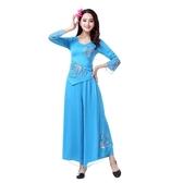 廣場舞服裝新款套裝女2019新款夏季楊麗萍舞蹈服中老年跳舞衣成人