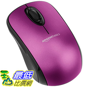 [106美國直購] 無線滑鼠 AmazonBasics MGR0975T-G51L Mouse with Nano Receiver - Purple