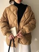 棉服 菱格棉服2021年新款春裝韓版寬鬆百搭加厚棉襖棉衣外套女ins潮【快速出貨八折搶購】