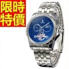 機械錶-陀飛輪鏤空質感焦點男手錶2色54...