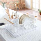 筷籠 日式鐵藝碗架筷子瀝水架廚房餐具置物架收納盤子瀝晾洗濾放碗筷盒 最後一天85折