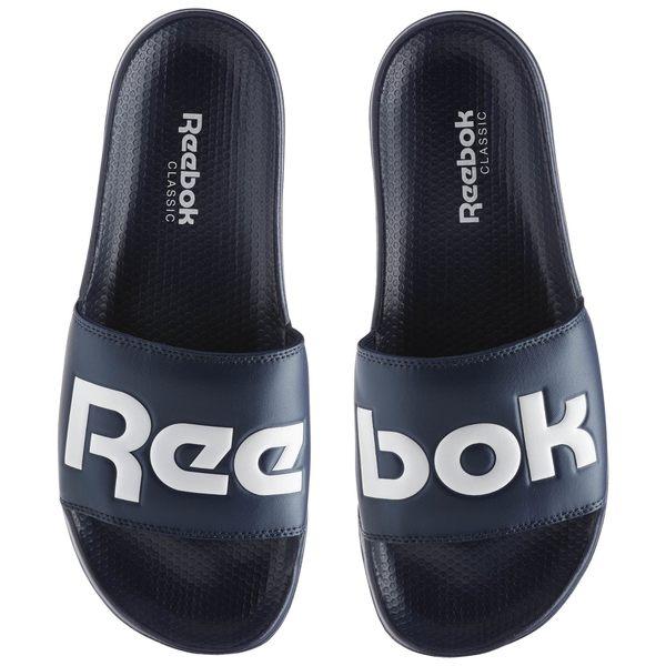 REEBOK CLASSIC SLIDE 男鞋 女鞋 拖鞋 休閒 舒適 深藍 白 【運動世界】 BS8186