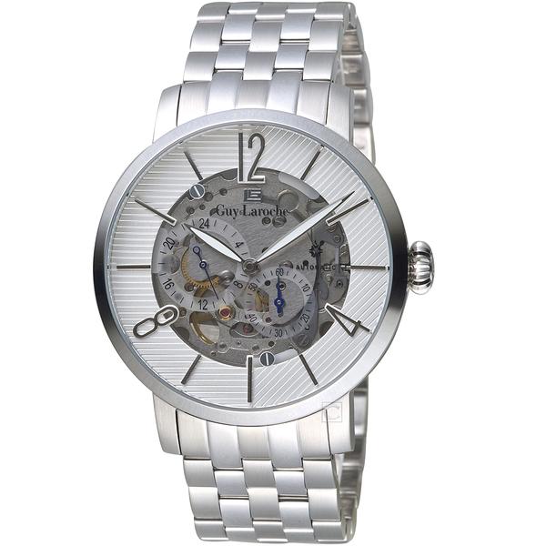 姬龍雪Guy Laroche Timepieces現代演繹鏤空機械錶  GW2009C-01