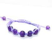 紫晶圓珠中國結手環