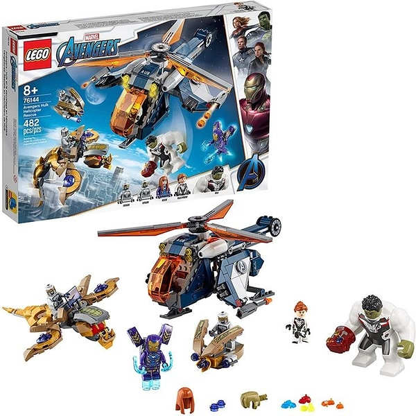 LEGO 樂高 Marvel Avengers Hulk Helicopter Rescue 76144 Building Kit(482 Pieces)
