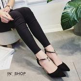 IN'SHOP 跟鞋-人氣復古感鑽飾繞踝高包跟瑪莉珍鞋-共2色 【KF00487】