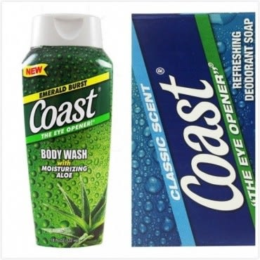 美國 Coast 海岸 蘆薈清新沐浴乳(18oz/532ml)*1+經典香皂(4oz
