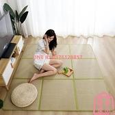 日式地毯榻榻米地墊拼接涼席茶幾墊 床邊兒童爬行墊子~匯美優品~