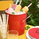 法式酒吧家用戶外啤酒香檳紅酒裝冰塊鐵皮小冰桶帶蓋帶冰鏟子米桶 夢幻小鎮「快速出貨」