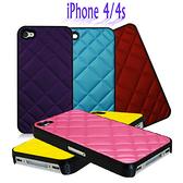 【限量促銷】Apple iPhone 4s/iPhone 4 保護套/香奈兒菱格紋保護殼/硬殼