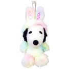 【史努比兔兔娃娃吊飾】史努比 彩虹 兔兔裝 娃娃吊飾 Snoopy 日本正品 該該貝比日本精品