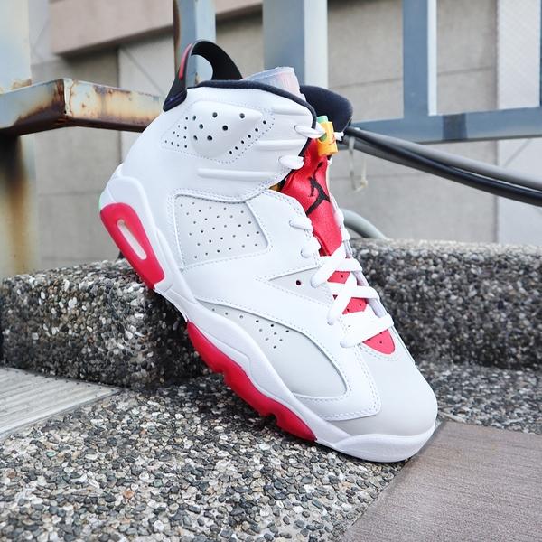 【現貨折後$5099再送贈品】NIKE Air Jordan 6 Retro Hare 兔寶寶 喬丹 6代 女鞋 撞色 籃球鞋 運動 384665-062