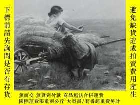 二手書博民逛書店【罕見】1890年木刻版畫《手上的戒指》( Du Ring an