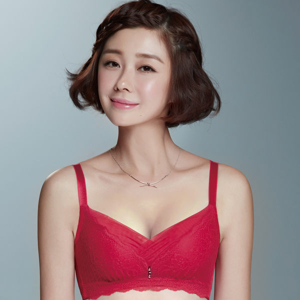 Audrey-夢幻七彩序曲 無鋼圈B-D罩內衣(熱情紅)