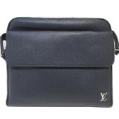 LOUIS VUITTON LV 路易威登 藍色牛皮信差袋/郵差包/肩背包 ALEX PM M30260