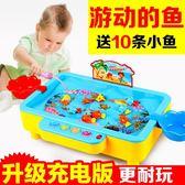 童勵兒童釣魚玩具池套裝男女孩磁性益智Lpm1933【每日三C】