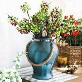 大號磨砂玻璃花瓶創意時尚干花花器家居水培花藝飾品現代 歐亞時尚
