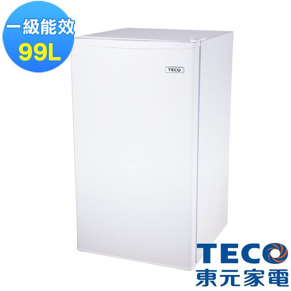 (含拆箱定位+舊機回收)TECO 東元 99公升單門小鮮綠冰箱 R1091W