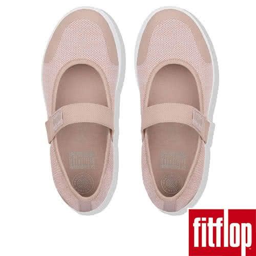 【FitFlop】UBERKNIT TM MARY JANES(螢光粉/都會白)