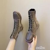 年秋冬季馬丁靴女英倫風潮ins瘦瘦短靴春秋單靴百搭快速出貨