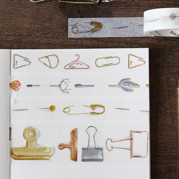【BlueCat】胸針迴紋針和紙膠帶