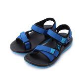 LOTTO 流行織帶涼鞋 藍 LT8AKS6186 大童鞋 鞋全家福