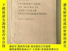 二手書博民逛書店introduction罕見to matrices and linear transformations(P367