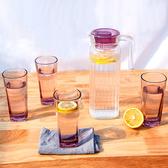 冷水壺 大容量水瓶涼白開水杯茶壺套裝冷水壺涼水壺玻璃耐熱高溫防爆家用 快速出貨