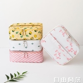 ins網紅化妝包小號便攜韓國簡約大容量少女心隨身袋化妝品收納盒 自由角落