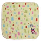 純棉刺繡小方巾(紗布+毛巾)-怪獸 (16x16cm)