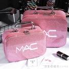 化妝包小號便攜韓國簡約可愛網紅少女心大容量收納盒品化妝箱手提 美眉新品